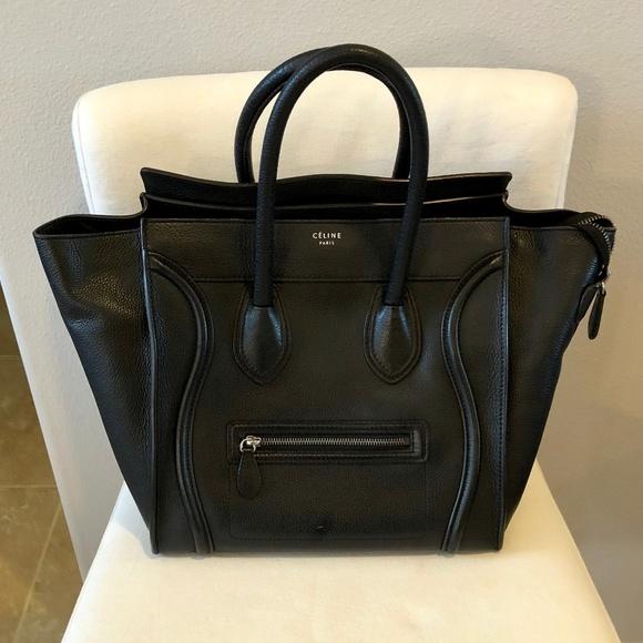 Celine Handbags - Celine Mini Luggage handbag in drummed calfskin 6c91cda93bc07
